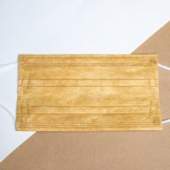 Classic Yellow 3-Ply Disposable Surgical Mask.